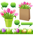 spring set vector image vector image