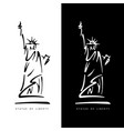 statue of liberty in new york city american vector image
