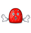 surprised gumdrop mascot cartoon style vector image vector image