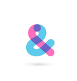 Symbol and ampersand symbol logo icon design vector image