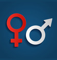symbols of gender the vector image vector image