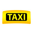 taxi cap clipart on a white background vector image