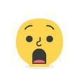 trendy surprised emoji smile eps10 vector image vector image