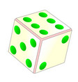 tumbling ivory dice vector image vector image