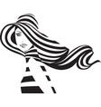 woman in hat vector image vector image