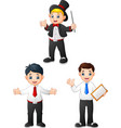 young male cartoon in diffrent professions vector image