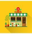 a flowers shop vector image