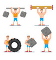 athlete strong man vector image