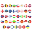 Flags of European countries vector image