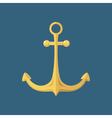 Gold Anchor Ship Equipment vector image