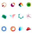 12 colorful symbols set 26 vector image vector image