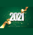2021green year background vector image vector image