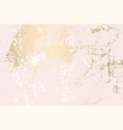 abstract grunge patina effect pastel gold vector image vector image