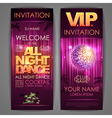 All night dance poster vector image vector image