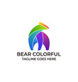 bear colorful concept designs template vector image
