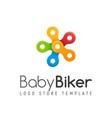 bicycle chain colorful isolated logo kids vector image vector image