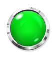 Big green button vector image