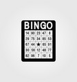 bingo single flat icon on white background vector image