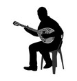 bouzouki player greek folklore silhouette vector image vector image