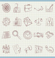business drawing icons vector image vector image