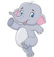 Cartoon Cute happy cartoon elephant isolated vector image vector image