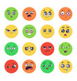 cartoon emotions faces set emoji expressions vector image vector image