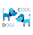 childish card with dogs vector image vector image