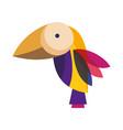 colored bird cartoon vector image vector image