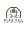 concept of coffee logo brown vector image vector image