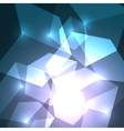 Cube abstract background vector image vector image