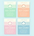 cute baby shower invitation vector image