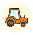 cute cartoon colorful tractor icon vector image vector image