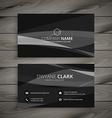 dark black business card vector image vector image