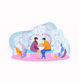 date in the park on the bench gentle words a vector image