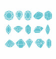 diamonds collection for your design vector image