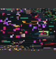digital glitch screen effect glitched video vector image vector image