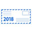 envelope 2018 lettering vector image vector image