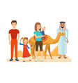 familiarity with the traditions culture sights vector image vector image