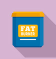 fat burner icon flat style vector image vector image