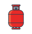 flammable gas tank icon propane butane methane vector image vector image