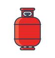 flammable gas tank icon propane butane methane vector image vector image
