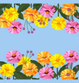 floral card banner background vector image vector image