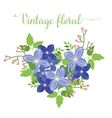 Floral summer bouquet heart shape for your design vector image