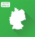 germany map icon business cartography concept vector image