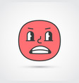grumpy emoji face with big eyes eps10 vector image vector image