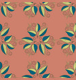 hand drawn floral seamless pattern drawing doodle vector image vector image