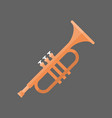 horn icon wind music instrument concept vector image vector image