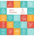 Icons set new year Christmas vector image