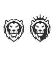 lion head emblem on white background vector image vector image