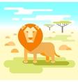 lion - king savannah vector image